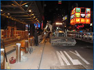 Port Authority Bus Terminal Security Bollard Installation